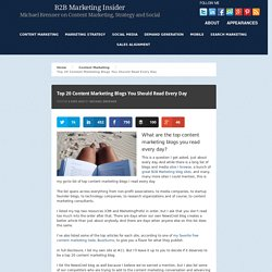 Top 20 Content Marketing Blogs You Should Read Every Day