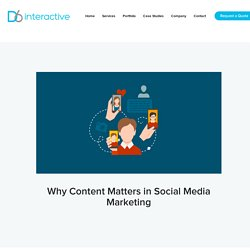 Why Content Matters in Social Media Marketing - D6 Interactive: Dallas Web Design