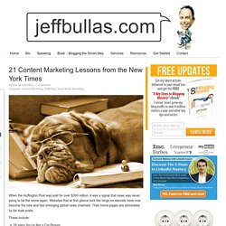 21 Content Marketing Lessons from the New York Times