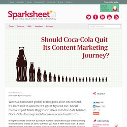 Should Coca-Cola Quit Its Content Marketing Journey?