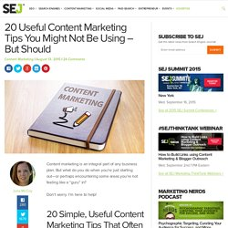 Content Marketing Tips You Might Not Be Using Yet