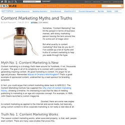 Content Marketing Myths and Truths