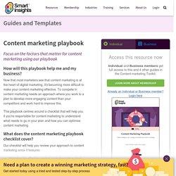 Content Marketing Playbook