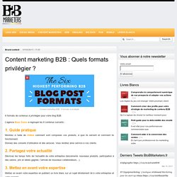 Content marketing B2B : Quels formats privilégier