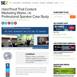Hard Proof That Content Marketing Works—A Professional Speaker Case Study