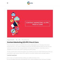 Content Marketing v/s PPC: Pros & Cons