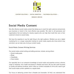 Social Media Marketing Content Writing Services