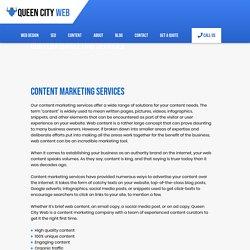 Content Marketing Services Company - Queen City Web Design