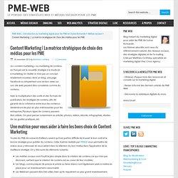 La matrice stratégique de choix des médias pour les PME