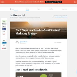 The 7 Steps to a 'Good-to-Great' Content Marketing Strategy