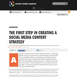 The First Step In Creating A Social Media Content Strategy