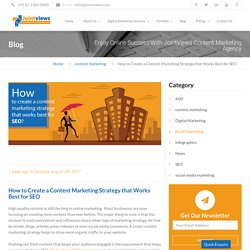 How to Create Content Marketing Strategy that Works Best for SEO