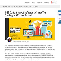 B2B Content Marketing Trends to Shape Your Strategy in 2018 and Beyond