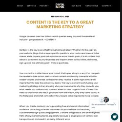 Content is the Key to a Great Marketing Strategy