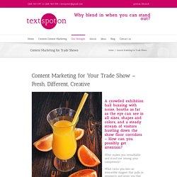 Text Spot On - Trade Show Marketing Strategies