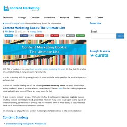 Content Marketing Books: The Ultimate List