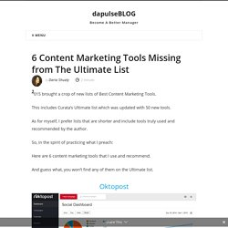 Content Marketing Tools Missing from the Ultimate List 2015
