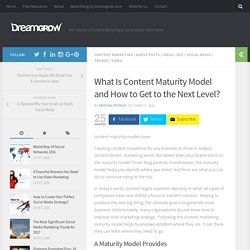 What Is Content Maturity Model and How to Get to the Next Level? - DreamGrow