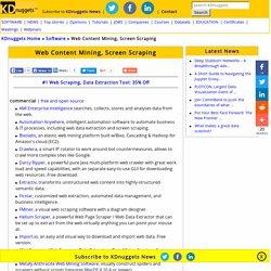 Web Content Mining, Screen Scraping