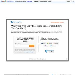 Why Your Web Copy Is Missing the Mark (and How You Can Fix It)