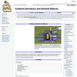 Content List:Hacks and Hacked Objects - Sims2Wiki