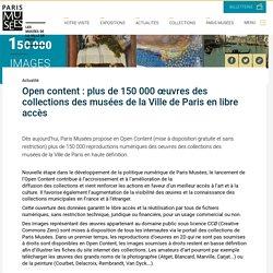 Musées de Paris - oeuvres en libre accès