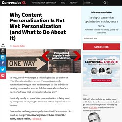 Why Content Personalization Is Not Web Personalization (and What to Do About It)