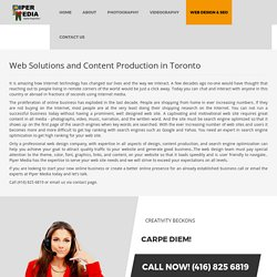 Web Content Production Toronto - Piper media