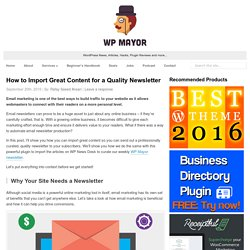 How to Import Great Content for a Quality Newsletter