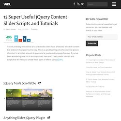 13 Super Useful jQuery Content Slider Scripts and Tutorials | Tutorials