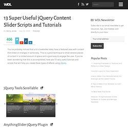 13 Super Useful jQuery Content Slider Scripts and Tutorials | Tutorials