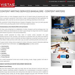 Content Writing Services Bangalore - Content Writers