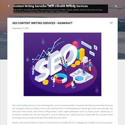 SEO CONTENT WRITING SERVICES - RAINKRAFT