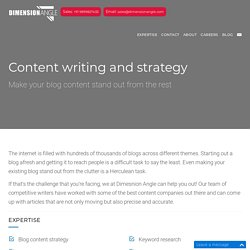 Content Writing Services – Best Strategy of Web Content in 2017