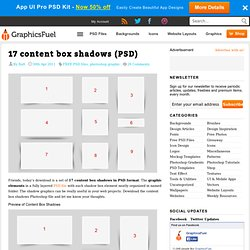17 content box shadows (PSD)