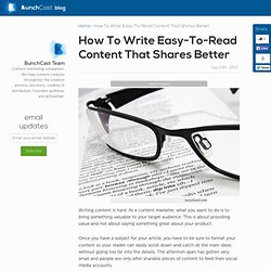 How to write easy-to-read content that shares better
