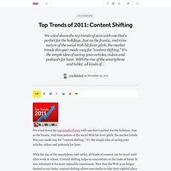 Top Trends of 2011: Content Shifting