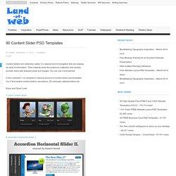 90 Content Slider PSD Templates