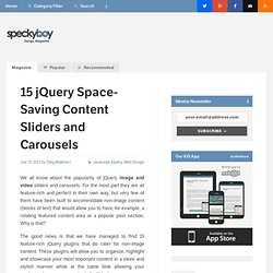 15 jQuery Space-Saving Content Sliders and Carousels