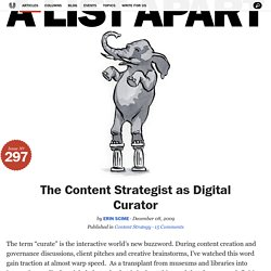 The Content Strategist as Digital Curato