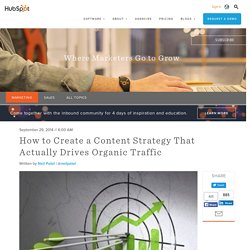 How to Create a Content Strategy That Actually Drives Organic Traffic