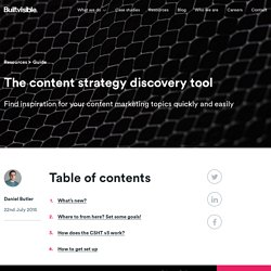 The content strategy discovery tool
