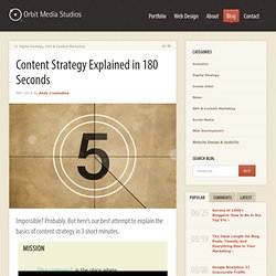 Content Strategy Explained in 180 Seconds