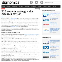 B2B content strategy - the gutcheck review
