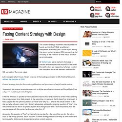 Fusing Content Strategy with Design