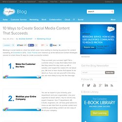 10 Ways to Create Social Media Content That Succeeds - Salesforce Blog