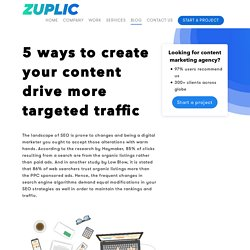 5 ways to create your content drive more targeted traffic - Zuplic