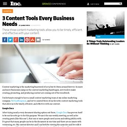 3 Content Tools Every Business Needs | Inc. 5000