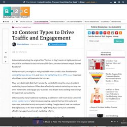 10 Content Types to Drive Traffic and Engagement