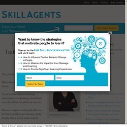 How to Turn Content Into Training: The Cognitive Therapy Case Study